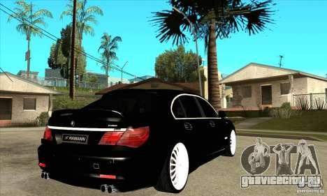 BMW 7-er F02 HAMANN 2010 для GTA San Andreas вид справа