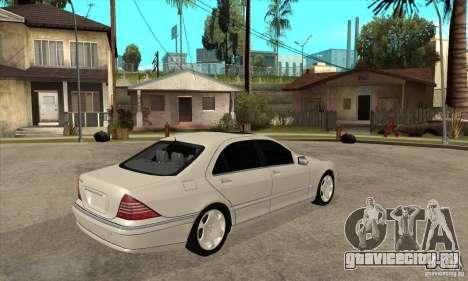 Mercedes Benz S600 для GTA San Andreas вид справа