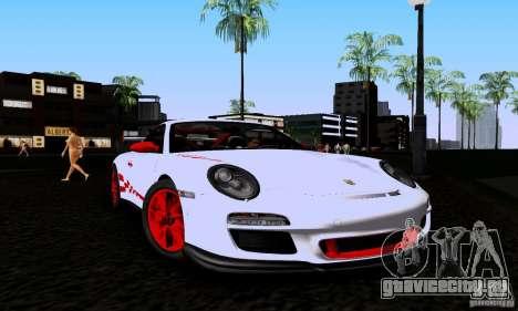 Porsche 911 GT3 RS для GTA San Andreas вид сзади слева