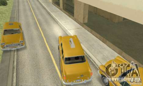 Checker Marathon 1977 Taxi для GTA San Andreas вид сзади слева