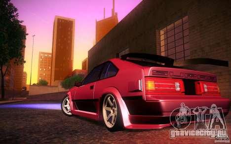 Toyota Supra Drift для GTA San Andreas вид сверху
