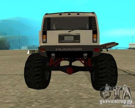 Hummer H2 MONSTER для GTA San Andreas вид сзади слева