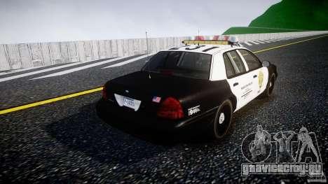 Ford Crown Victoria Raccoon City Police Car для GTA 4 вид сбоку