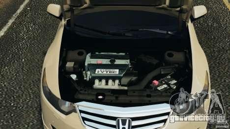 Honda Accord Type S 2008 для GTA 4 вид изнутри