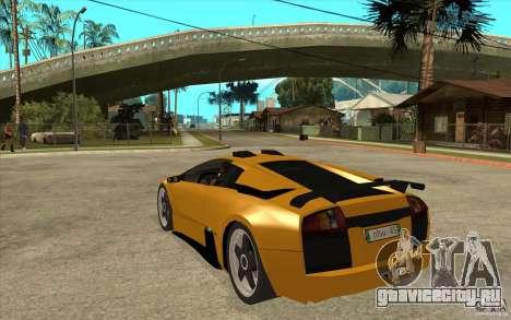 Lamborghini Murcielago для GTA San Andreas вид сзади слева
