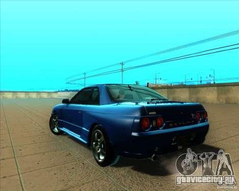 Nissan Skyline GT-R R32 1993 Tunable для GTA San Andreas вид сзади