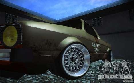US Army Volkswagen Caddy для GTA San Andreas вид сзади