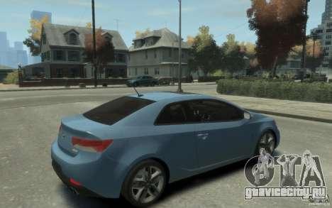 Kia Forte Koup SX для GTA 4 вид справа