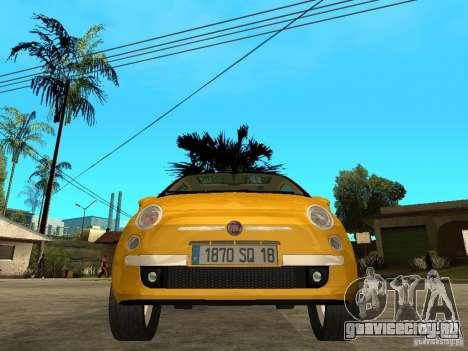 Fiat 500 C для GTA San Andreas вид справа