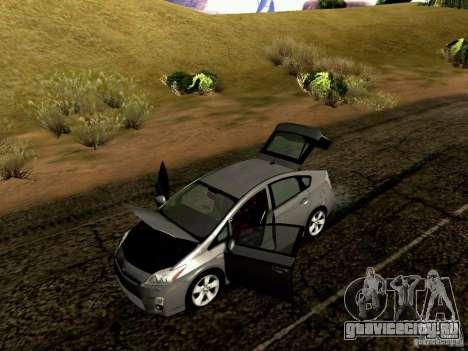 Toyota Prius Hybrid 2011 для GTA San Andreas вид изнутри