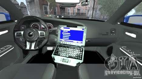 Dodge Charger Unmarked Police 2012 [ELS] для GTA 4 вид сзади