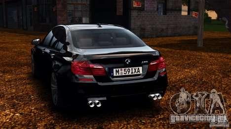 BMW M5 F10 2012 для GTA 4 вид сзади слева