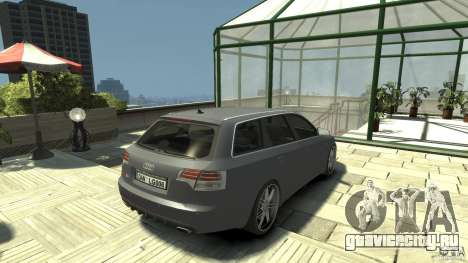 Audi A4 Avant beta для GTA 4 вид сзади слева