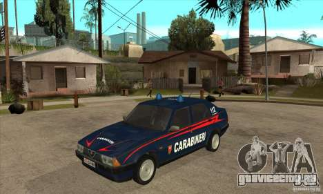 Alfa Romeo 75 Carabinieri для GTA San Andreas