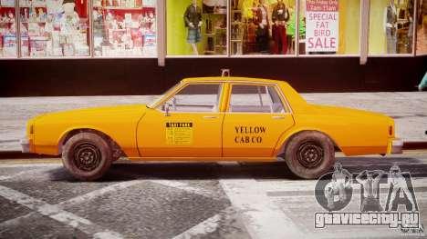Chevrolet Impala Taxi 1983 [Final] для GTA 4 вид сверху
