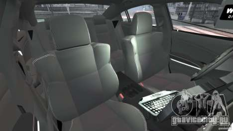 Dodge Charger Unmarked Police 2012 [ELS] для GTA 4 вид изнутри