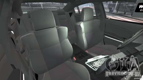 Dodge Charger Unmarked Police 2012 [ELS] для GTA 4 вид изнутри