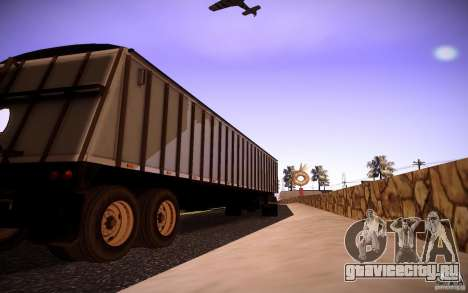 Dumper Trailer для GTA San Andreas вид сзади слева