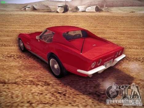Chevrolet Corvette Stingray 1968 для GTA San Andreas вид сзади слева