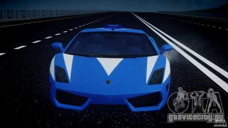 Lamborghini Gallardo LP560-4 Polizia для GTA 4 двигатель