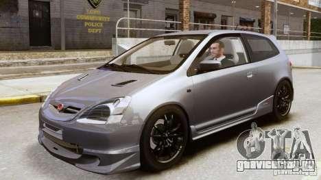 Honda Civic Type-R (EP3) для GTA 4 вид сзади