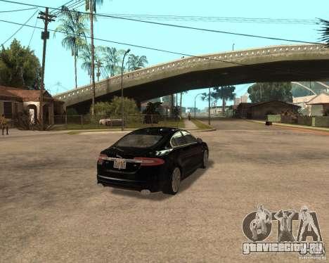 Jaguar XFR 2009 для GTA San Andreas вид справа