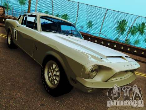 Shelby GT 500 KR для GTA San Andreas вид сзади