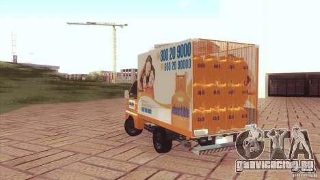 Hafei Camion de Gas для GTA San Andreas вид слева