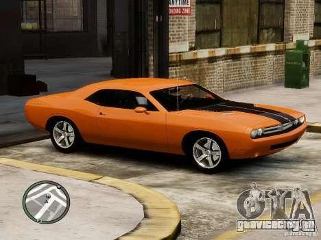 Dodge Chalenger для GTA 4 вид слева