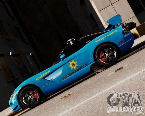 Dodge Viper SRT-10 ACR 2009 Police ELS для GTA 4 вид слева