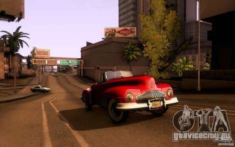 Buick Y-Job 1938 для GTA San Andreas вид сбоку
