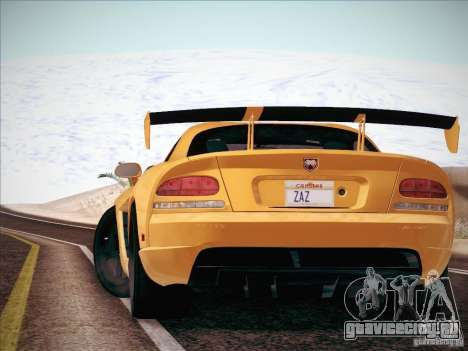 Dodge Viper SRT-10 ACR для GTA San Andreas вид сзади