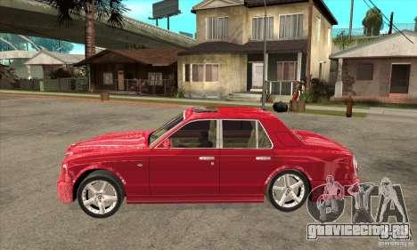 Bentley Arnage T для GTA San Andreas вид сзади слева