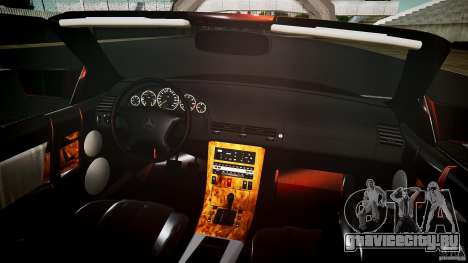 Mercedes Benz SL500 Custom для GTA 4 вид сверху