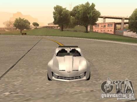Chevrolet Corvette C7 Spyder для GTA San Andreas вид сзади