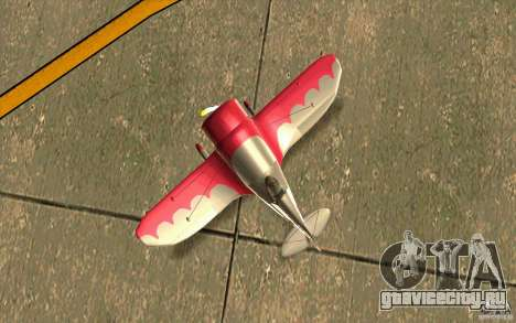GeeBee typeZ для GTA San Andreas вид сзади