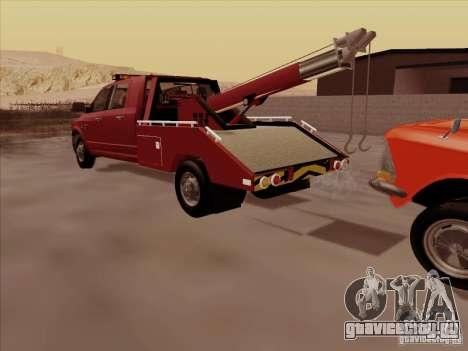 Dodge Ram 3500 TowTruck 2010 для GTA San Andreas вид изнутри