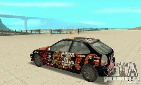 Honda-Superpromotion для GTA San Andreas вид сзади