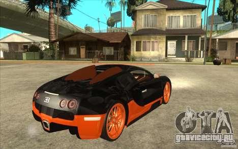 Bugatti Veyron Super Sport 2011 для GTA San Andreas вид справа