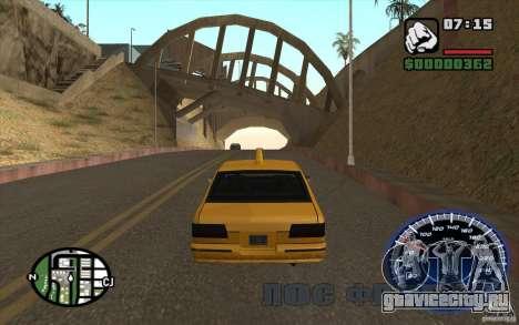 Спидометр для GTA San Andreas второй скриншот