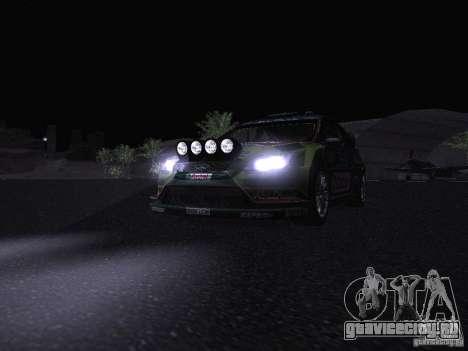 Ford Focus RS WRC 2010 для GTA San Andreas колёса