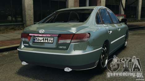 Hyundai Azera для GTA 4 вид сзади слева