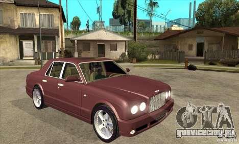 Bentley Arnage GT для GTA San Andreas вид сзади