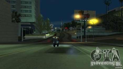 Невидимая Blista Compact для GTA San Andreas вид сзади слева