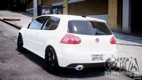 Volkswagen Golf 5 GTI для GTA 4 вид сзади слева