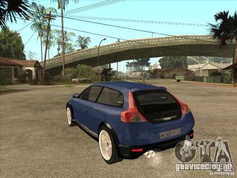 VOLVO C30 Sport 2009 для GTA San Andreas вид сзади слева