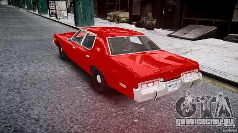 Dodge Monaco 1974 stok rims для GTA 4 вид сзади слева