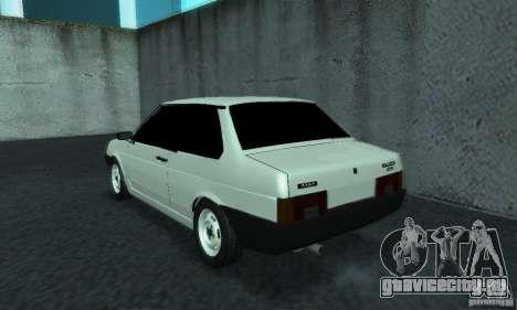 ВАЗ 21099 Coupe для GTA San Andreas вид сзади слева