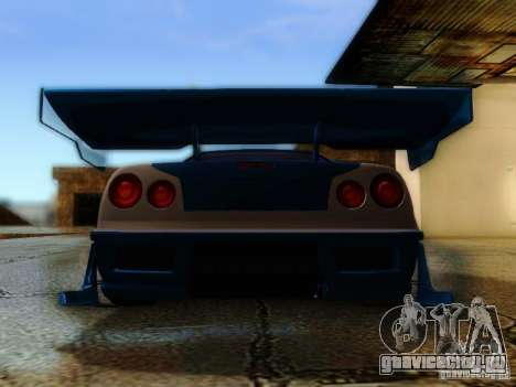Nissan Skyline GTR34 DTM для GTA San Andreas вид изнутри
