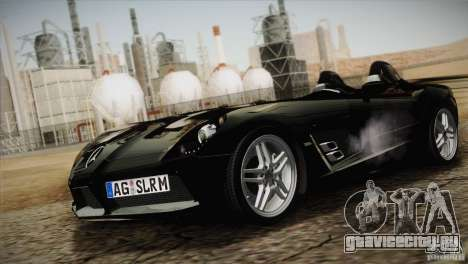 Mercedes-Benz SLR Stirling Moss 2005 для GTA San Andreas вид изнутри